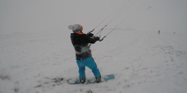 Snowkiten Nederland