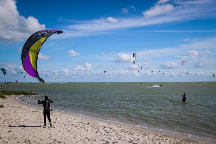 Voorrangsregels kitesurfen
