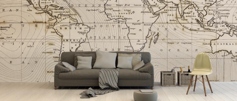 wereldkaart-op-behang